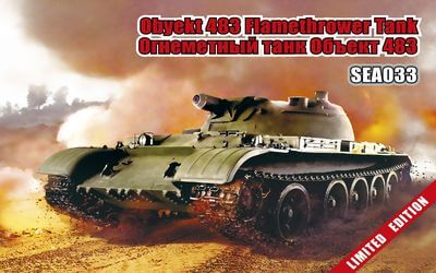 1/72 scale model Obyekt 483 Flamethrower Tank