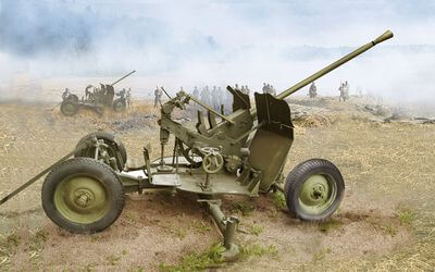 1/72 scale model 72-K Soviet 25-mm AA Gun (late)