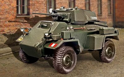 1/72 scale model Humber Armoured Car Mk.IV