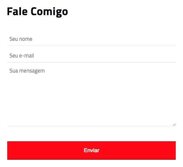 Imagem do formulário de Contato