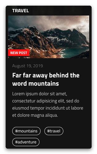 New Post Tag Screenshot