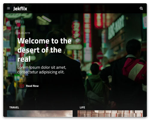 Home page with hero screenshot