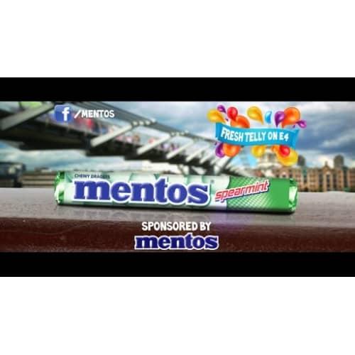MENTOS SPONSORS FRESH TELLY E4!
