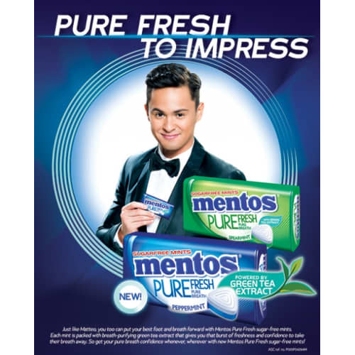 MENTOS PURE FRESH SUGARFREE MINTS
