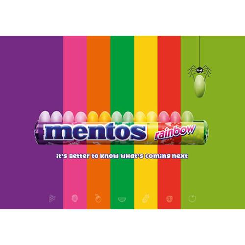 Lancement du rouleau Mentos Rainbow