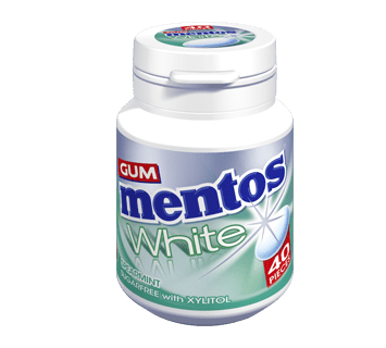 Mentos Gum White - Spearmint Flavour 40 pieces