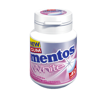 Mentos Gum White - Bubble Fresh Flavour 40 pieces