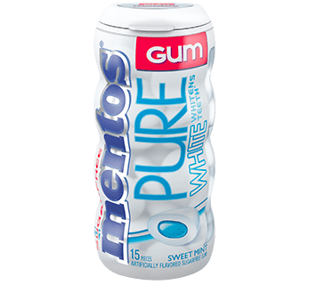 Mentos Gum Pure White - Sweet Mint 15pc Pocket Bottle