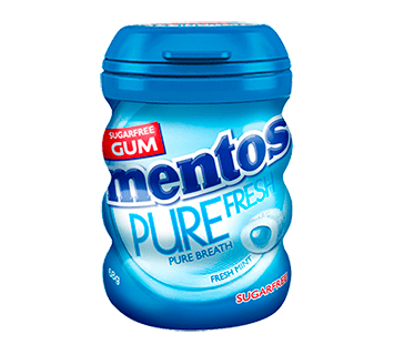 Mentos Pure Fresh Fresh Mint Sugarfee Bottle