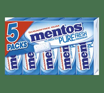 Mentos Gum Pure Fresh Freshmint 5-pack