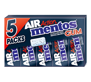 Mentos Gum Air Action Menthol-Liquorice 5-pack