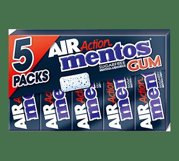 Mentos Gum Air ActionMenthol-Liquorice 5-pack