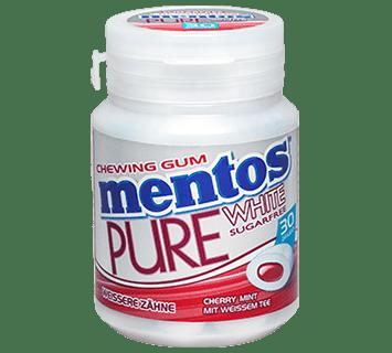 MENTOS KAUGUMMI PURE WHITE CHERRY MINT