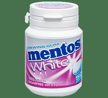 MENTOS CHEWING-GUM WHITE TUTTI FRUTTI