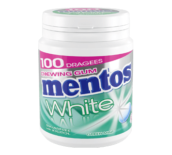MENTOS KAUGUMMI WHITE GREEN MINT 100ST