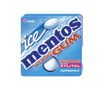 Mentos Ice Gum Peppermint Blister