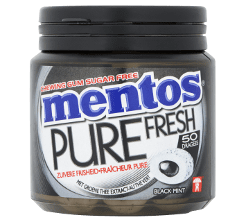 Mentos Gum Pure Fresh - Black Mint pot