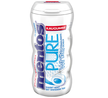 Mentos KaugummiPure White Sweet Mint