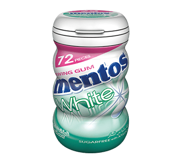 Mentos Gum White Spearmint 72p