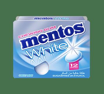 Mentos Gum White SweetMint 12p