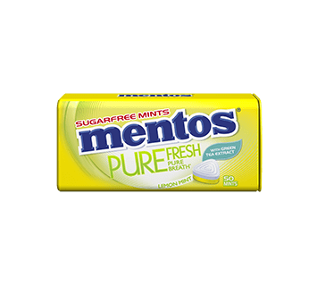 Mentos Pure Fresh Lemon Mint Tin