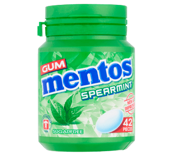 Mentos Gum Spearmint Bottle 42pcs