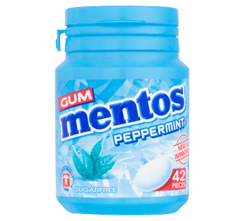 Mentos Gum Peppermint Bottle 42pcs