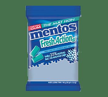 Sing Gum Mentos Fresh Action gói 40 viên