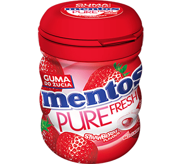 MENTOS PURE FRESH STRAWBERRY BUTELKA