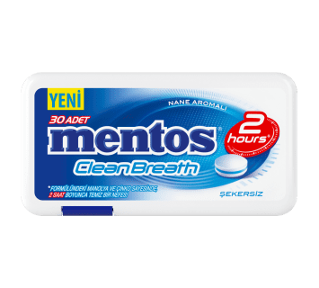 Mentos 2H CleanBreath Nane Aromalı Tablet Şeker - Plastik Kutu
