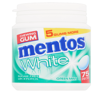Mentos Gum White - Green Mint pot