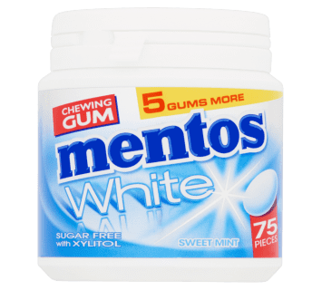 Mentos Gum White - Sweet Mint pot