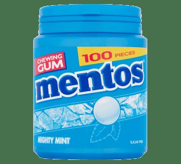 Mentos Gum Mighty Mint pot