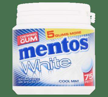 Mentos Gum White - Cool Mint pot