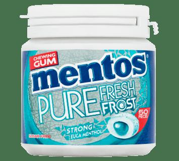 Mentos Gum Pure Fresh Frost Euca Menthol Pot