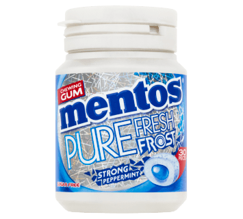 Mentos Gum Pure Fresh Frost Strong Peppermint Pot