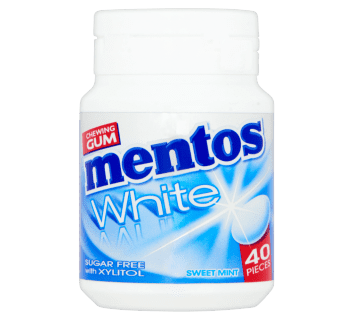 Mentos Gum White Sweet Mint pot