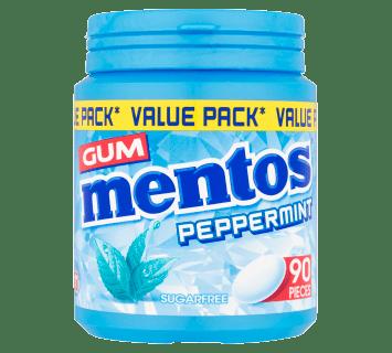 Mentos Gum Peppermint Bottle 90pcs