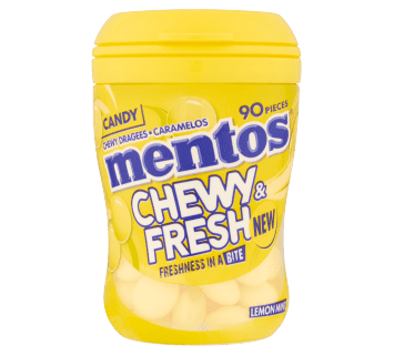 Mentos Chewy & Fresh Lemon Mint Candy 90pcs
