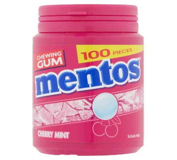 Mentos Gum - Cherry Mint pot