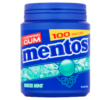Mentos Gum - Breeze Mint pot