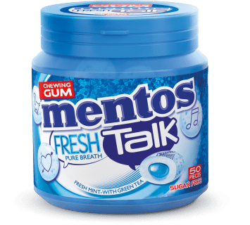 Mentos Gum Fresh Talk - Fresh Mint pot