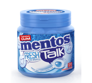 Mentos Gum Fresh Talk - Fresh Mint 55p