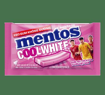 Kẹo Gum Mentos Cool White Hương Trái Cây Hộp 15 Gói