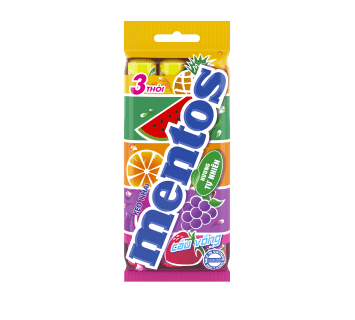 Kẹo Nhai Mentos Cầu Vồng Gói 3 Thỏi