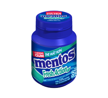 Sing Gum Mentos Fresh Action Hũ 56g