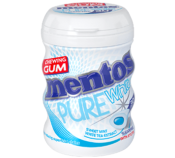 Mentos Gum Pure White Sweet Mint Medium