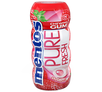 Mentos Gum Pure Fresh Strawberry Pocket