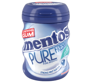 Mentos Pure Fresh Gum Strong Mint Medium Curvy Bottle