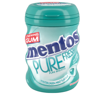 Mentos Pure Fresh Gum Wintergreen Medium Curvy Bottle